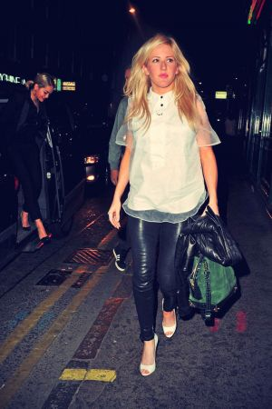Ellie Goulding joins Rita Ora and Calvin Harris for dinner