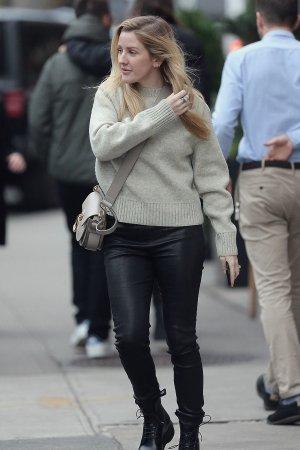 Ellie Goulding leaving Saint Ambroeus