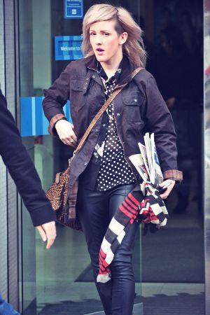 Ellie Goulding leaving the ITV Studios