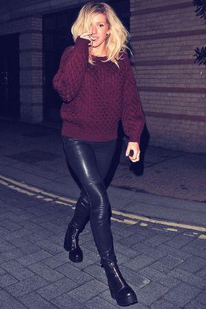 Ellie Goulding leaving the OXO Tower Brasserie