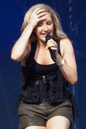 Ellie Goulding performing at Radio 1's Big Weekend