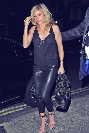 Ellie Goulding was spotted at the Chiltern Firehouse in London