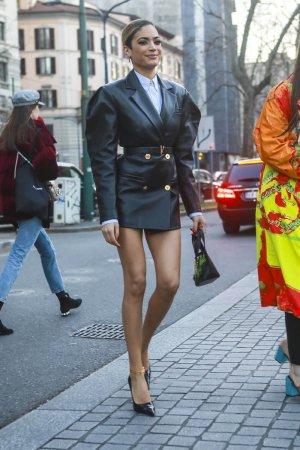 Elodie at Milan Fashion Week