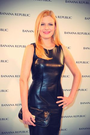 Elodie Frege attends the inauguration of the Banana Republic store