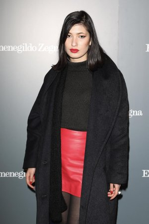 Eloise Chong-Cargette attends the opening of Ermenegildo Zegna new boutique