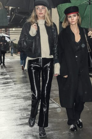 Elsa Hosk out and about with a friend in NYC