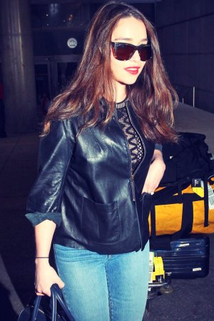 Emilia Clarke at LAX Airport in Los Angeles
