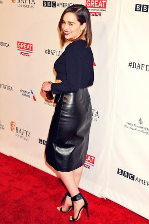 Emilia Clarke attends BAFTA Los Angeles Awards Season Tea