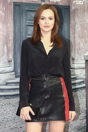 Emilia Schuele attends the Charite premiere