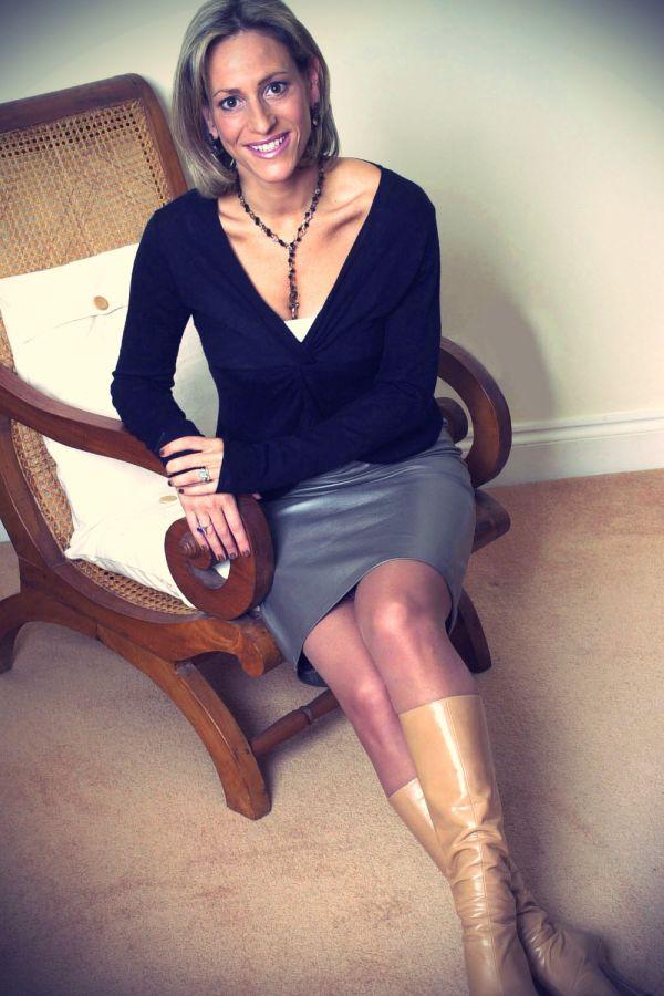 Emily Maitlis Photoshoot - Leather Celebrities: leathergirlsblog.com/photos/entry/emily-maitlis-photoshoot