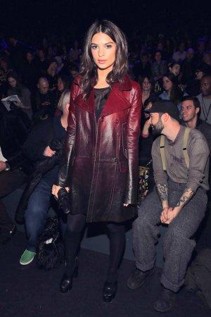 Emily Ratajkowski attends Anna Sui 2016 Fashion Show