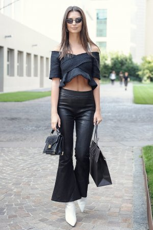 Emily Ratajkowski seen during Milan Fashion Week
