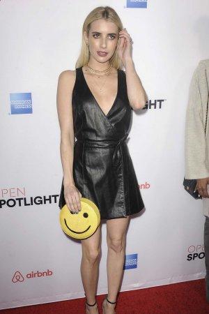 Emma Roberts attends Airbnb Open Spotlight