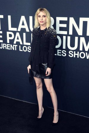 Emma Roberts attends Saint Laurent Fashion Show