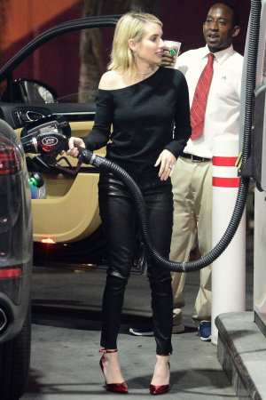 Emma Roberts heading out for girls night