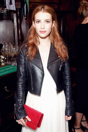 Emma Roberts Leather Jacket Leather Celebrities