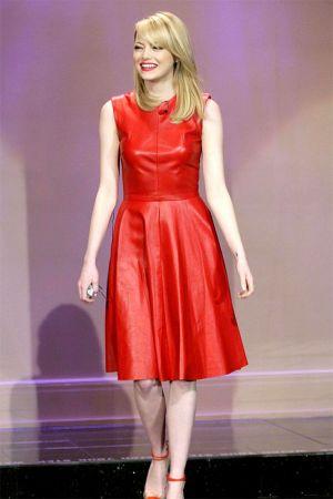 Emma Stone at The Tonight Show with Jay Leno