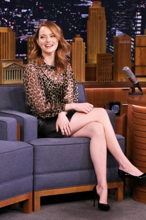 Emma Stone attends The Tonight Show