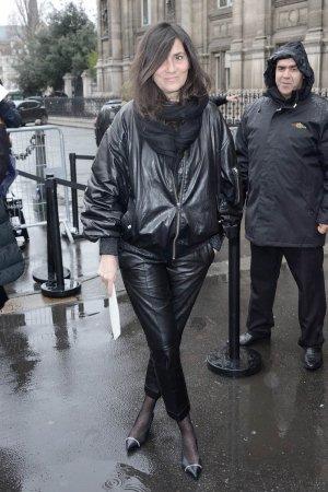 Emmanuelle Alt arriving at the Lanvin Show