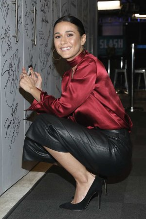 Emmanuelle Chriqui at AOL Build in NYC