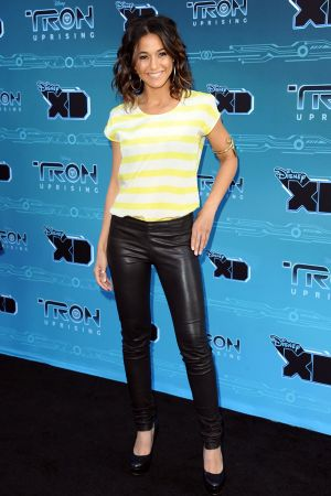 Emmanuelle Chriqui at TRON Uprising premiere