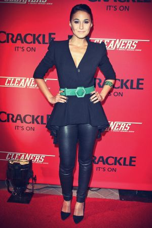 Emmanuelle Chriqui Premiere Of Crackle's New Original Digital Series Cleaners