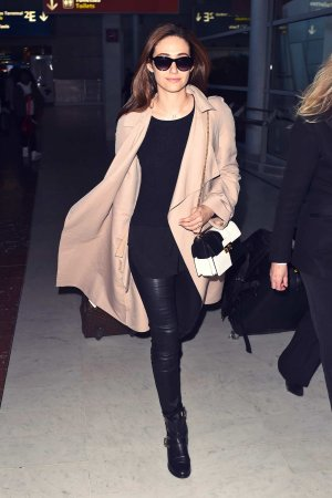 Emmy Rossum at Charles de Gaulle Airport