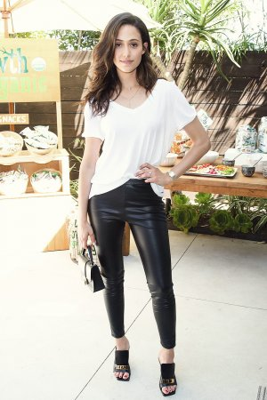 Emmy Rossum attends Philanthropy Give Back Garden Party
