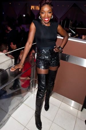 Estelle arrives for a live performance at Pure Nightclub in Las Vegas