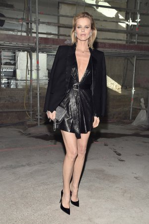 Eva Herzigova attends the Saint Laurent show