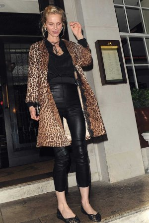 Eva Herzigova leaving 34 Mayfair Restaurant