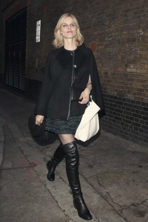 Eva Herzigova leaving the Chiltern Firehouse