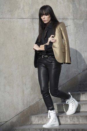 Evangelie Smyrniotaki Street Style at Paris Fashion Week