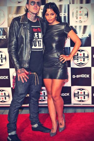 Fefe Dobson walk the red carpet at the Shock The World 2013 event