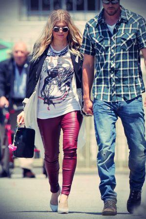 Fergie arrives to church with Josh Duhamel