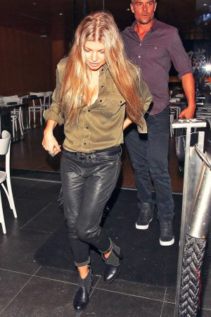 Fergie at Katsuya restaurant in Brentwood