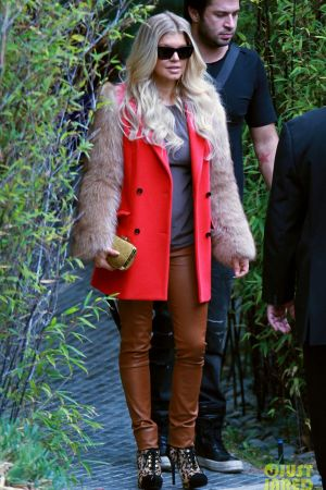 Fergie goes at a private residence in Los Angeles