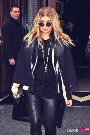 Fergie spotted leaving her Paris hotel