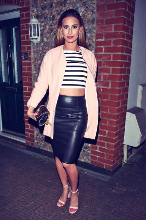 Ferne Mccann attends Charlie Sims birthday celebrations