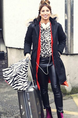 Ferne McCann leaving the ITV studios