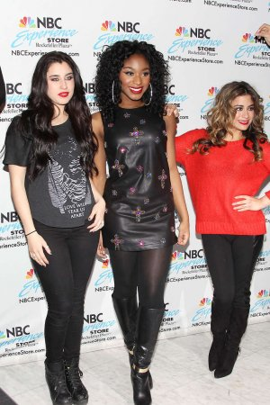 Fifth Harmony at the NBC Experience Store to promote and sign their new CD