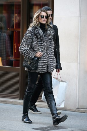 Flavia Luchini is seen outside her hotel
