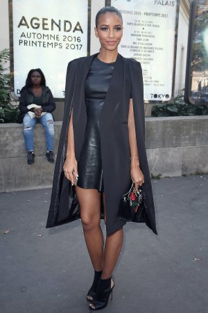 Flora Coquerel arrives at the Guy Laroche show