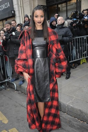 Flora Coquerel attends the Jean-Paul Gaultier fashion show