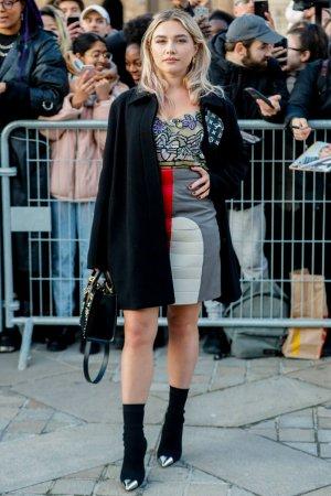 Florence Pugh attends Louis Vuitton show
