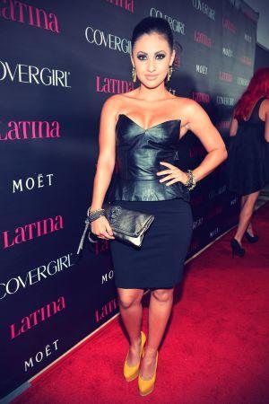 Francia Raisa arrives at the Latinos In Hollywood celebration