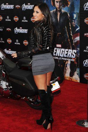 Francia Raisa at The Avengers premiere