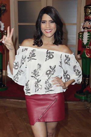 Francisca Lachapel is seen on the set of 'Despierta America'