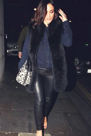 Frankie Bridge arriving at Zuma in Knightsbridge