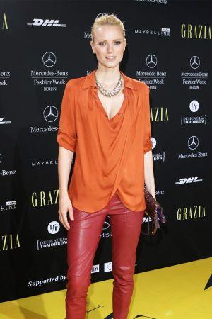 Franziska Knuppe at Mercedes-Benz Fashion Week